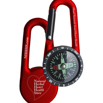 compact carabiner compass